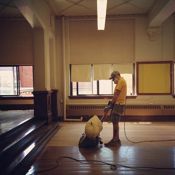 Sanding hardwood floors like a boss old to gold for Hardwood floors kalamazoo