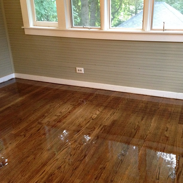 #hardwood #floor #refinishing with #antiquebrown #dark #stain - Hardwood Floor Refinishing - 2/4 - Old To Gold Hardwood Floors