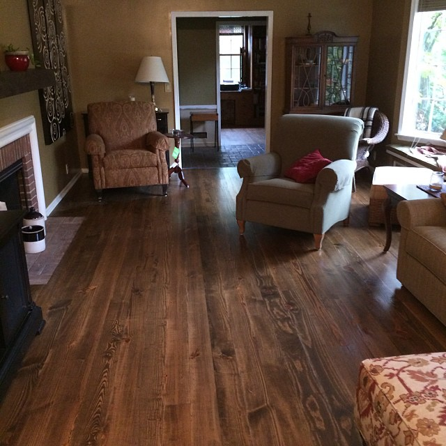 Pine hardwood floor installation then sanding and for Hardwood floors kalamazoo