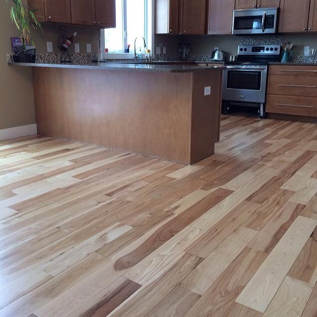 Beautiful natural hardwood floor refinishing job in byron for Hardwood floors kalamazoo