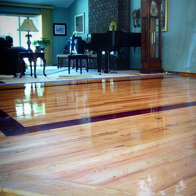 This wood is called purple heart fun job looks amazing for Purple heart flooring