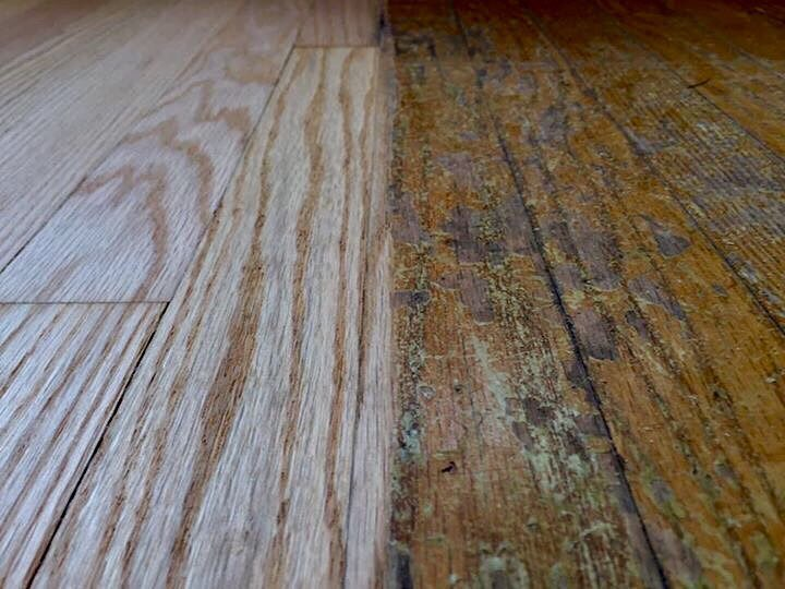 "Magic Monday! How bad are your floors? Sanding red oak floors from ""Old"" to ""Gold""! #floorsander #flooring #hardwoodflooring #hardwoodfloor #woodflooring #woodfloors #grandrapids #michigan #entrepreneur #smallbusiness #hgtv #interiordesign #remodeling #woodworking #woodworker #pinterest #floorguys #architecture #designer #highend #customwork #heritagehill #bona #bonapowerdrive #powerdrive #new"