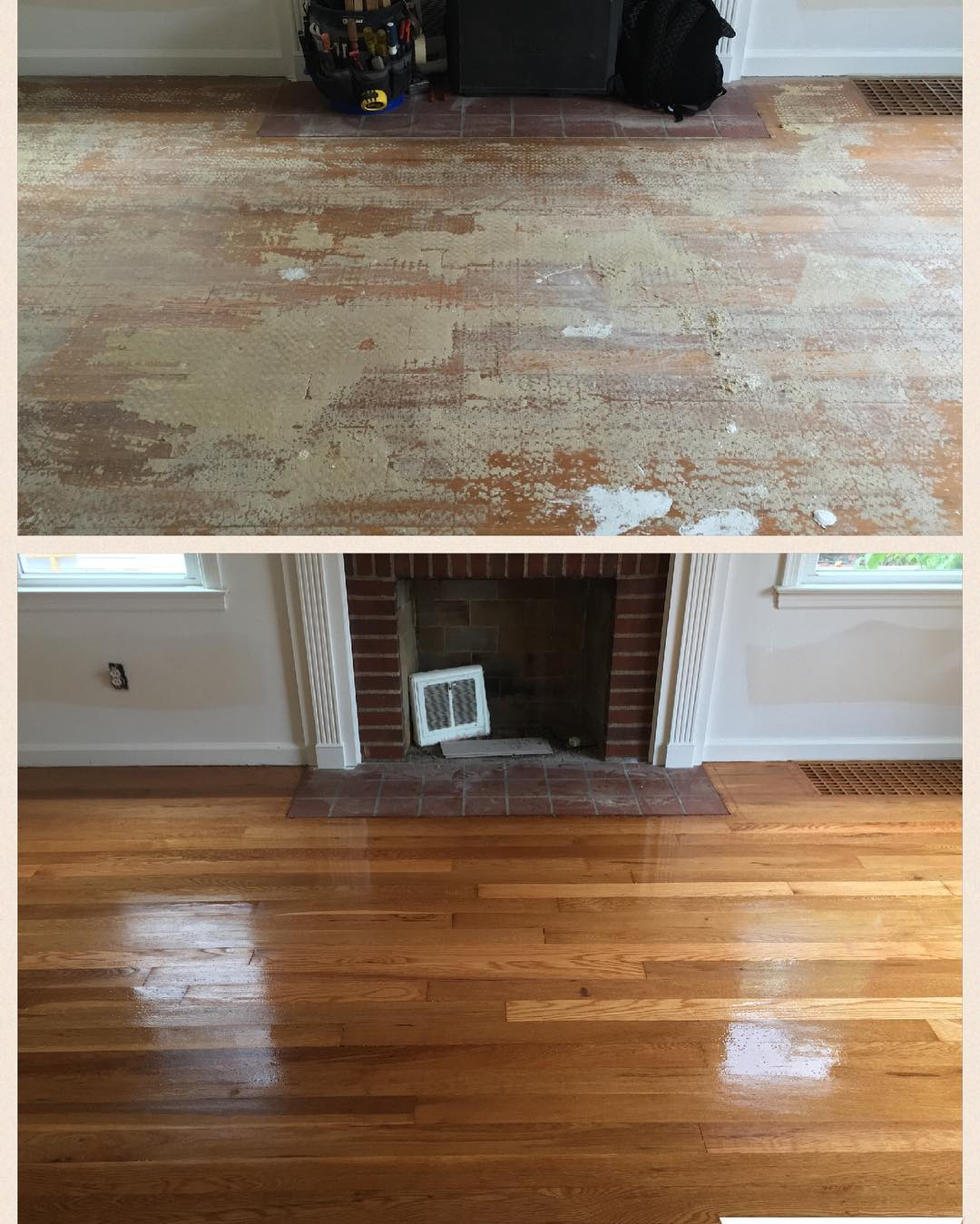 Here's a fun side by side transformation. Have a fun and safe weekend. #transformation #OldToGold #floorsander #flooring #hardwoodflooring #hardwoodfloor #woodflooring #woodfloors #grandrapids #metrogr #grmi #michigan #entrepreneur #smallbusiness #hgtv #interiordesign #remodeling #woodworking #woodworker #pinterest #floorguys #architecture #designer #customwork #bona #new #fresh
